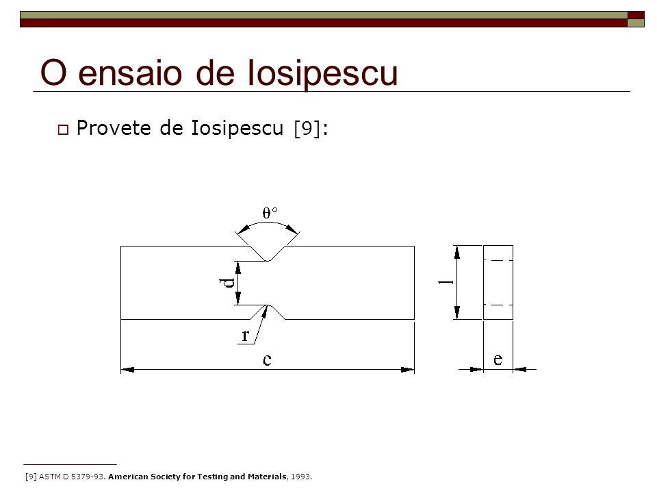 O ensaio de Iosipescu Provete de Iosipescu [9]: